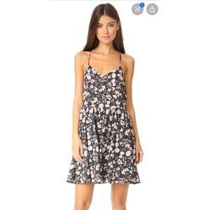 Anine Bing floral mini slip dress